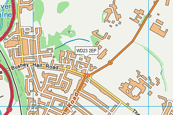 Bushey Hall Golf Club (Closed) map (WD23 2EP) - OS VectorMap District (Ordnance Survey)