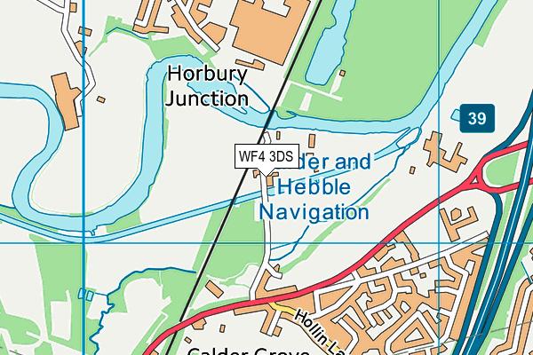 WF4 3DS map - OS VectorMap District (Ordnance Survey)