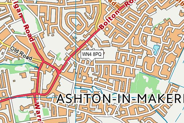 St Thomas CofE Primary School map (WN4 8PQ) - OS VectorMap District (Ordnance Survey)