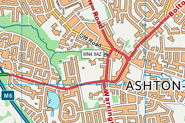 WN4 9AZ map - OS VectorMap District (Ordnance Survey)