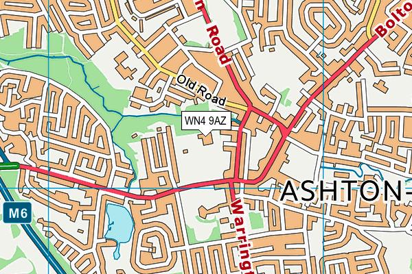 St Oswald's Catholic Primary School map (WN4 9AZ) - OS VectorMap District (Ordnance Survey)