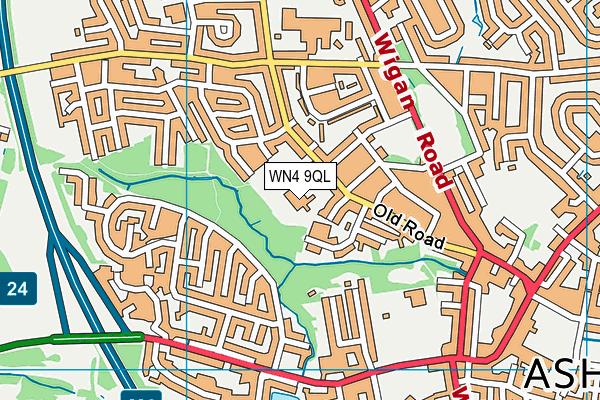 R L Hughes Primary School map (WN4 9QL) - OS VectorMap District (Ordnance Survey)