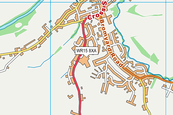 Tenbury High Ormiston Academy map (WR15 8XA) - OS VectorMap District (Ordnance Survey)