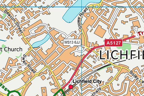 WS13 6JJ map - OS VectorMap District (Ordnance Survey)