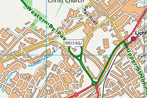 WS13 6QJ map - OS VectorMap District (Ordnance Survey)