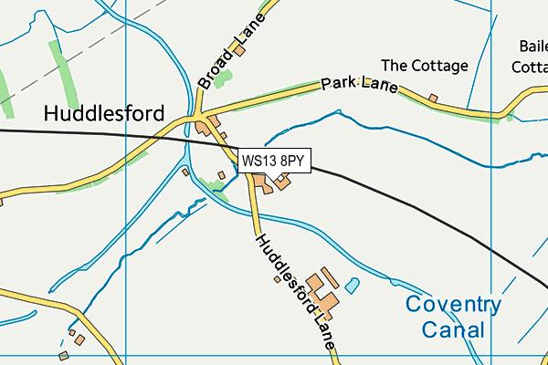 WS13 8PY map - OS VectorMap District (Ordnance Survey)