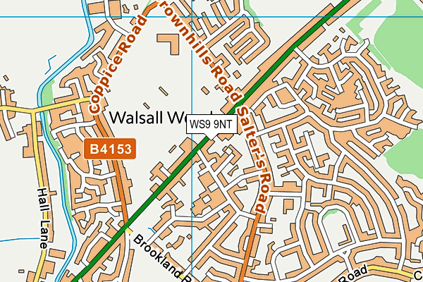 Better Gym Walsall Wood map (WS9 9NT) - OS VectorMap District (Ordnance Survey)