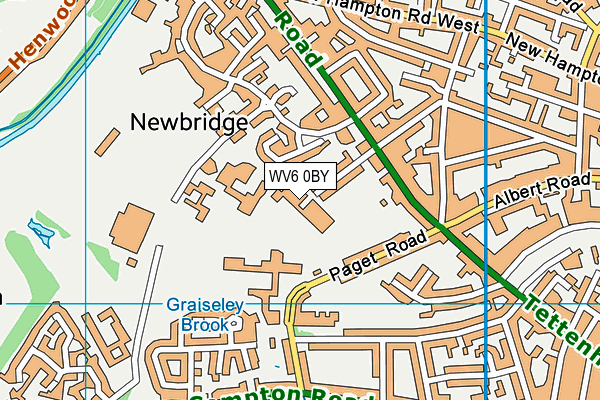 Wolverhampton Girls' High School map (WV6 0BY) - OS VectorMap District (Ordnance Survey)