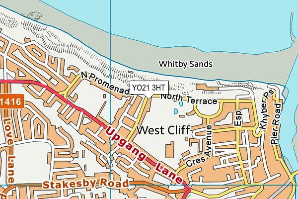 Whitby Leisure Centre map (YO21 3HT) - OS VectorMap District (Ordnance Survey)