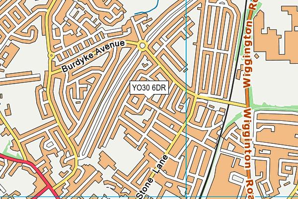 Burton Stone Community Centre (Closed) map (YO30 6DR) - OS VectorMap District (Ordnance Survey)