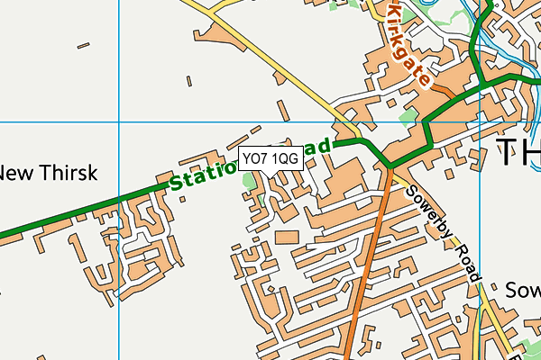 Map of THIRSK BEER & FOOD LTD at district scale