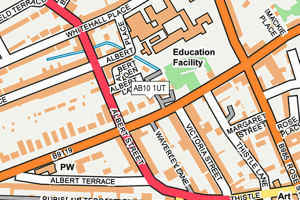 Map of ALERON TECHNOLOGY LIMITED at local scale
