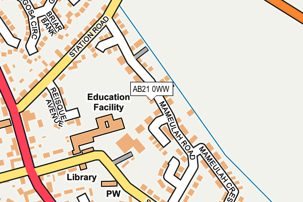 Map of M56 LTD at local scale