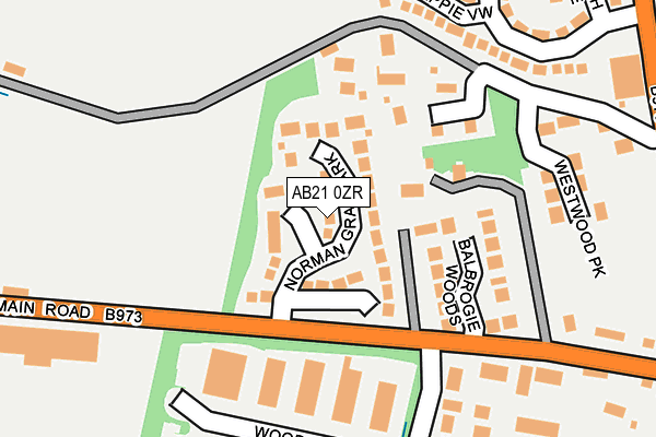 Map of GRANITE OFFSHORE LOGISTICS LTD at local scale