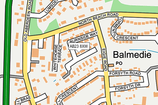 Map of MANNOFIELD BUILDING SERVICES LTD at local scale