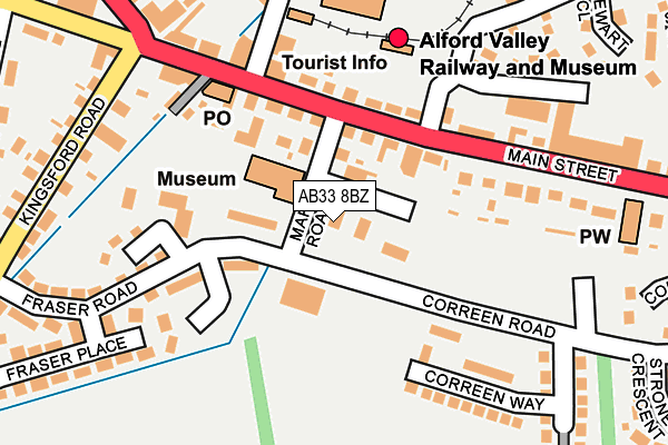 Map of COUNTRY FLAVOURS (ALFORD) LTD. at local scale