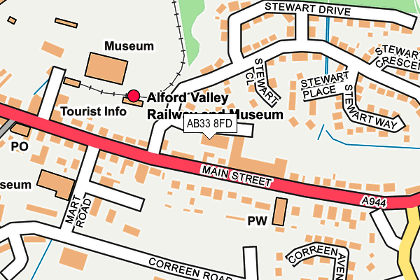 Map of A & B BUCHAN LIMITED at local scale