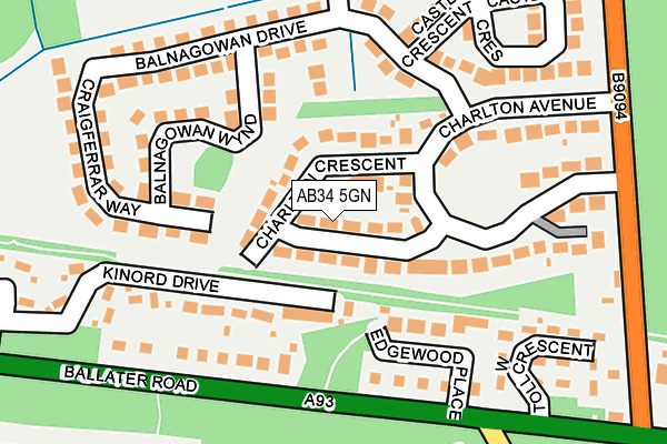 Map of DEESIDE CREATIONS LIMITED at local scale