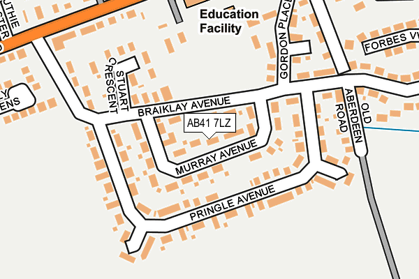 Map of CRIMOND THORNTON LTD at local scale