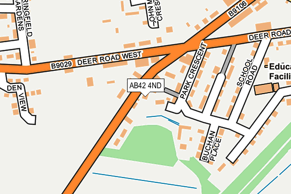 Map of STUART WALLACE ELECTRICAL (MAUD) LTD at local scale