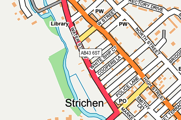 Map of PACY ROAD LTD at local scale