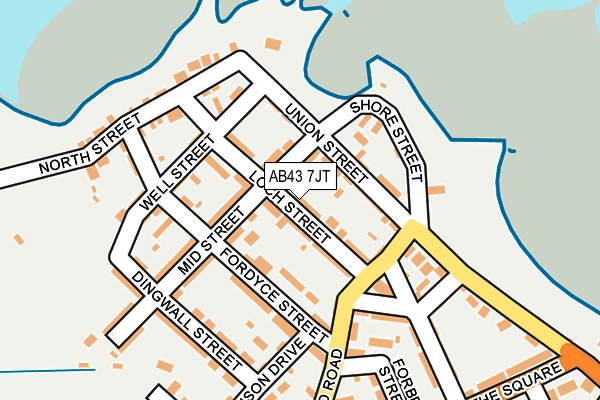 Map of ROSEHEARTY ROUGHCASTERS LTD at local scale