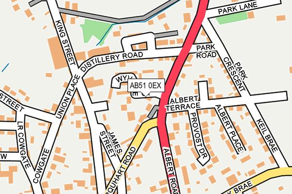 Map of MELDRUM MOTORS LTD. at local scale