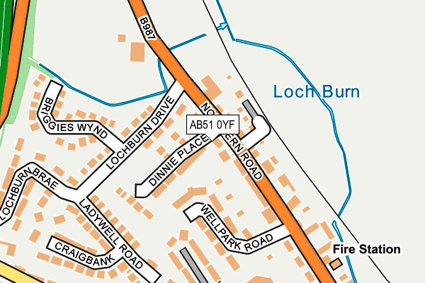 Map of STATION GARAGE (KINTORE) LIMITED at local scale