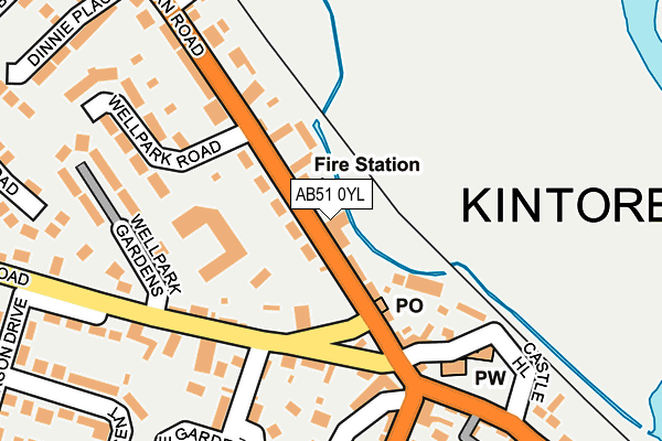 Map of SS KINTORE LIMITED at local scale