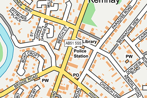Map of THE KEMNAY CHIPPER LTD at local scale