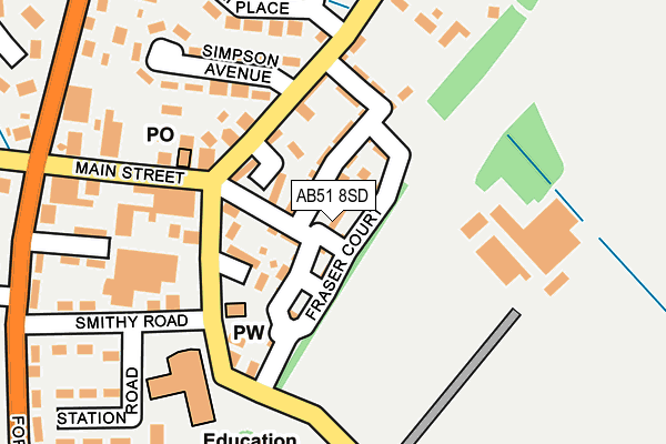 Map of MILLIE'S PAWS LTD at local scale