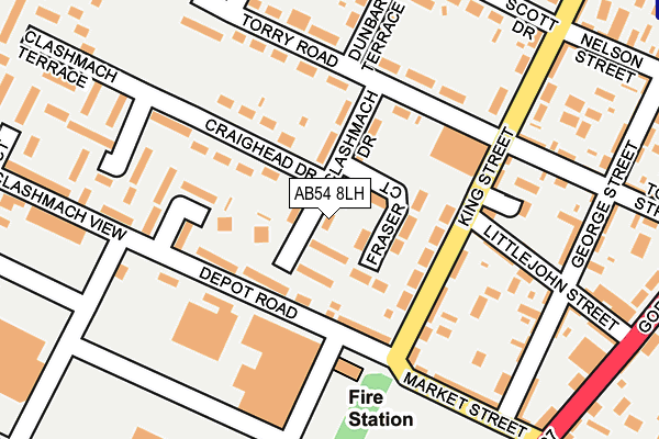 Map of K BAIN DESIGN LTD at local scale