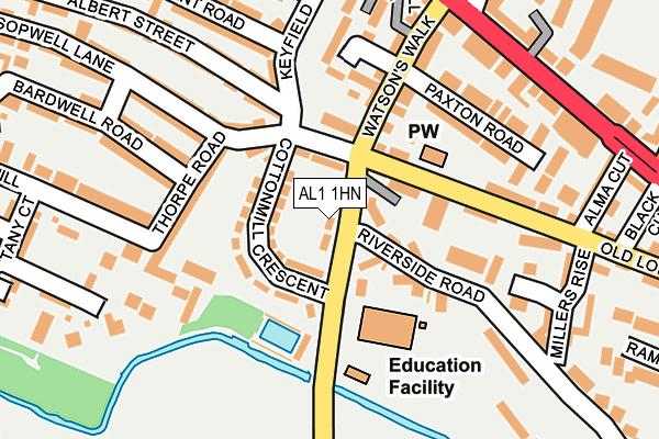 AL1 1HN map - OS OpenMap – Local (Ordnance Survey)