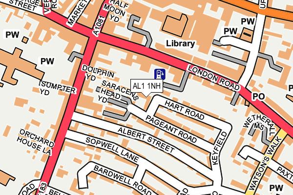 AL1 1NH map - OS OpenMap – Local (Ordnance Survey)