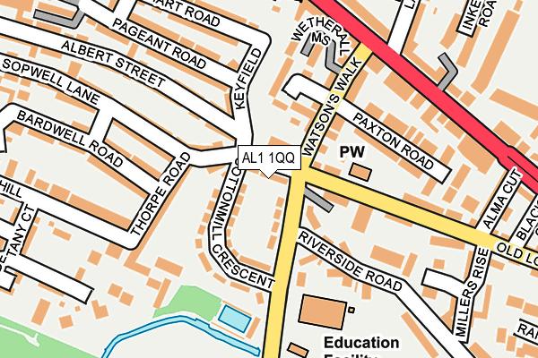 AL1 1QQ map - OS OpenMap – Local (Ordnance Survey)