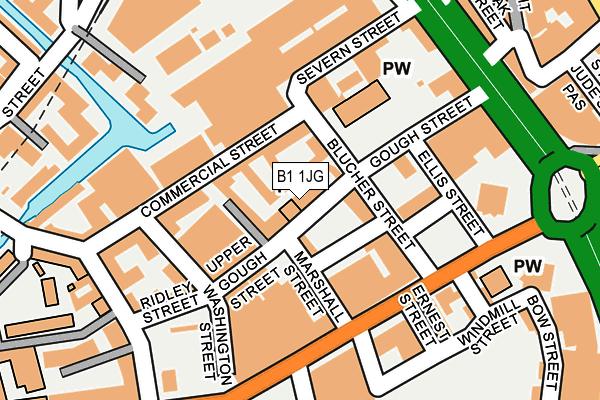 B1 1JG map - OS OpenMap – Local (Ordnance Survey)