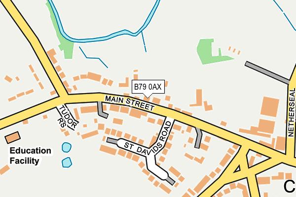 B79 0AX map - OS OpenMap – Local (Ordnance Survey)