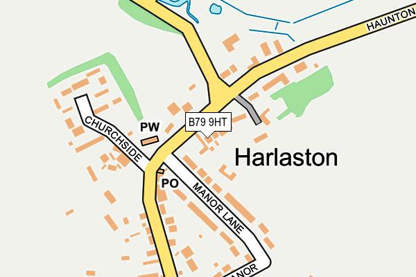 B79 9HT map - OS OpenMap – Local (Ordnance Survey)