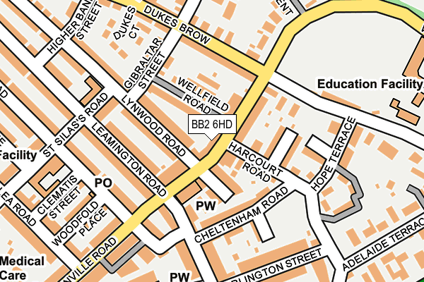 BB2 6HD map - OS OpenMap – Local (Ordnance Survey)