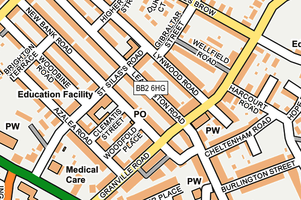 BB2 6HG map - OS OpenMap – Local (Ordnance Survey)