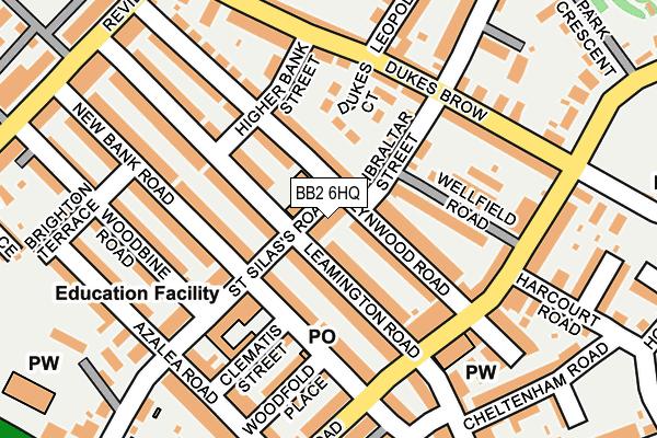 BB2 6HQ map - OS OpenMap – Local (Ordnance Survey)