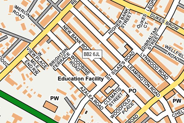 BB2 6JL map - OS OpenMap – Local (Ordnance Survey)