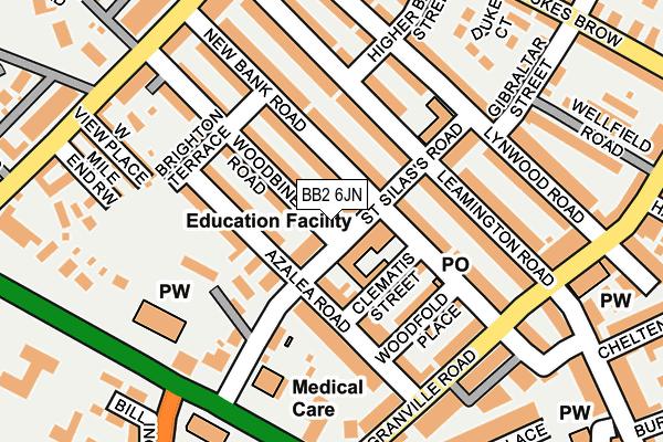 BB2 6JN map - OS OpenMap – Local (Ordnance Survey)
