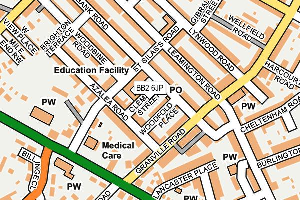 BB2 6JP map - OS OpenMap – Local (Ordnance Survey)