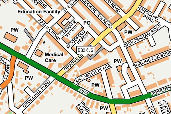 BB2 6JS map - OS OpenMap – Local (Ordnance Survey)