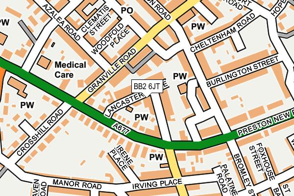 BB2 6JT map - OS OpenMap – Local (Ordnance Survey)