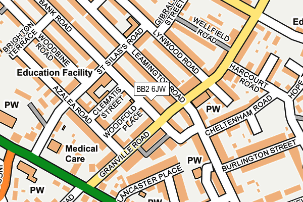 Map of SWEET PALACE BLACKBURN LTD at local scale