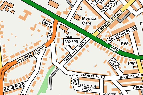 BB2 6PR map - OS OpenMap – Local (Ordnance Survey)