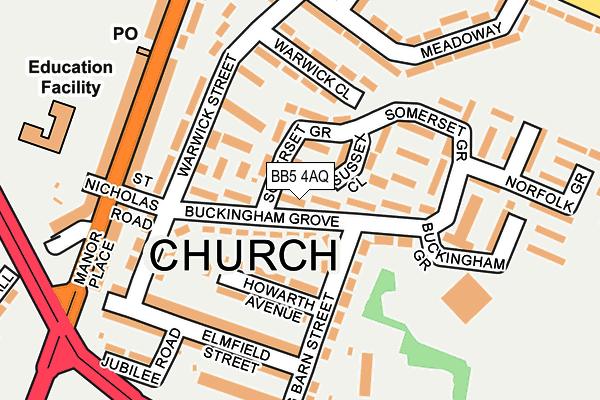 BB5 4AQ map - OS OpenMap – Local (Ordnance Survey)
