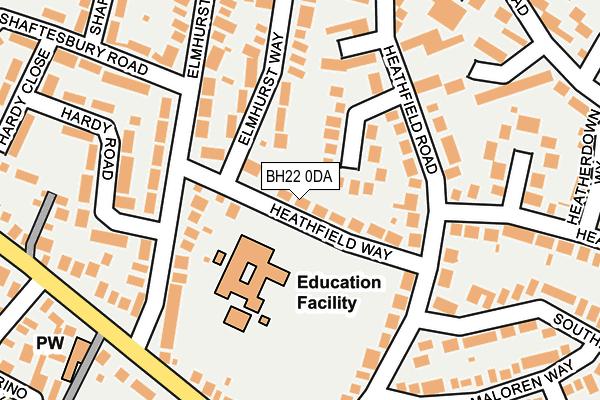 BH22 0DA map - OS OpenMap – Local (Ordnance Survey)